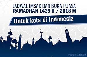 Jadwal Imsak dan Buka Puasa Ramadhan 2018