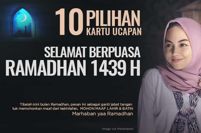 10 Kartu ucapan Pilihan Puasa di bulan Ramadhan 1439 H / 2018