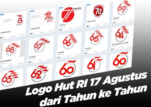 Logo Hut RI 17 Agustus dari Tahun ke Tahun
