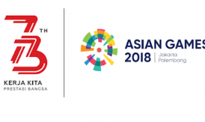 logo HUT RI ke-73 dan Asian Games