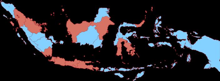 Sumber: Artikel Tirto Data Baru 16 Provinsi RI Terjangkiti Kasus Positif Corona • Visualisasi Data: Restu Diantina Putri & Louis Lugas